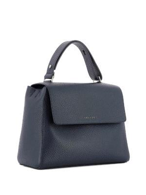 Orciani: shoulder bags online - Sveva Soft M navy leather bag