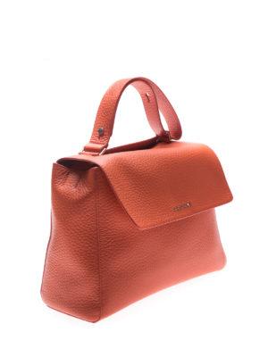 Orciani: shoulder bags online - Sveva Soft M orange leather bag