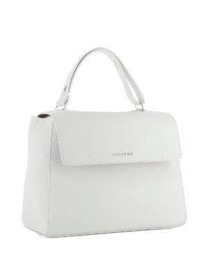 Orciani: shoulder bags online - Sveva Soft M white leather bag