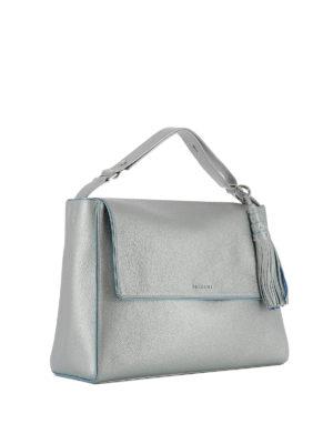 Orciani: shoulder bags online - Sveva Soft silver shoulder bag