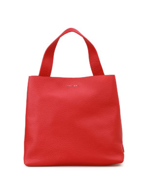 Orciani: shoulder bags - Soft red leather shoulder bag