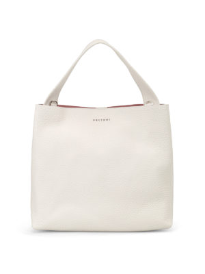 Orciani: shoulder bags - Soft white leather shoulder bag