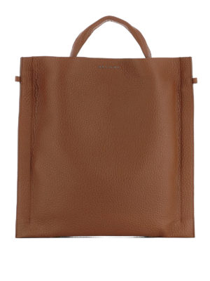 Orciani: shoulder bags - Soul brown leather squared bag