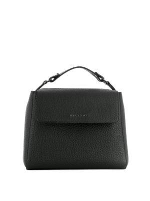 Orciani: shoulder bags - Sveva Soft black leather bag