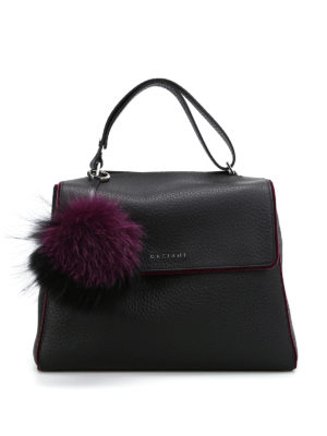 Orciani: shoulder bags - Sveva soft line velvet trimmed bag