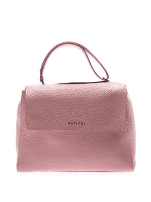 Orciani: shoulder bags - Sveva Soft M leather bag
