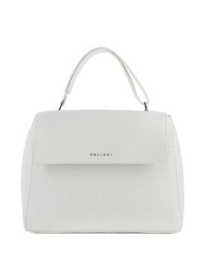 Orciani: shoulder bags - Sveva Soft M white leather bag