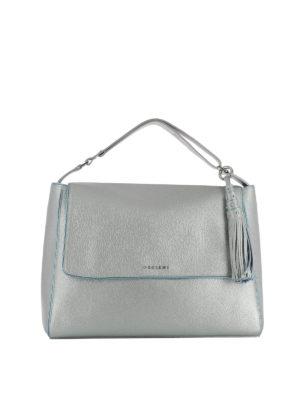 Orciani: shoulder bags - Sveva Soft silver shoulder bag