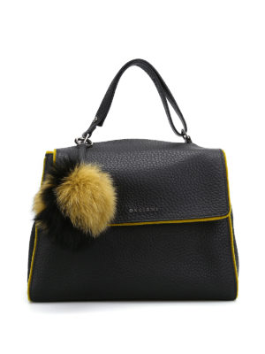 Orciani: shoulder bags - Sveva velvet trimmed soft line bag