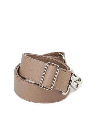 ORCIANI: borse a spalla - Tracolla Soft in pelle color tortora