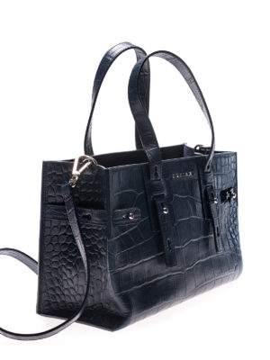 Orciani: totes bags online - Petra Kenya blue tote
