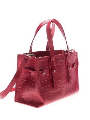 Orciani: totes bags online - Petra Kenya red tote