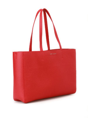 Orciani: totes bags online - Soft red leather E/W tote bag