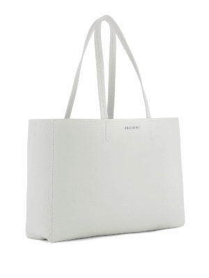Orciani: totes bags online - Soft white leather E/W tote bag