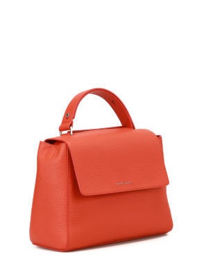 Orciani: totes bags online - Sveva Soft arancio leather bag