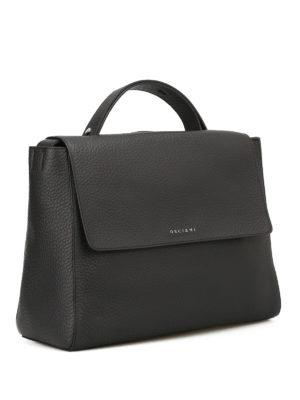 Orciani: totes bags online - Sveva Soft black bag