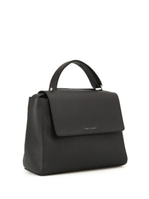 Orciani: totes bags online - Sveva Soft black leather bag