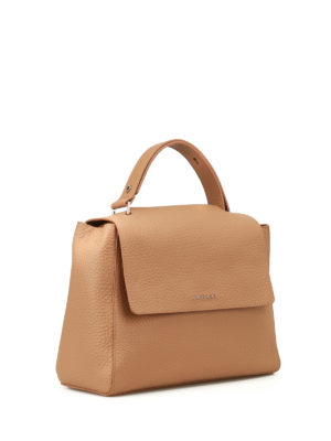 Orciani: totes bags online - Sveva Soft cappuccino leather bag