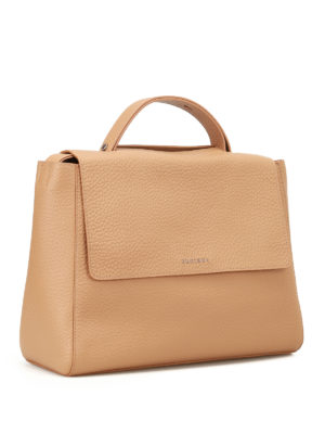 Orciani: totes bags online - Sveva Soft light brown leather bag