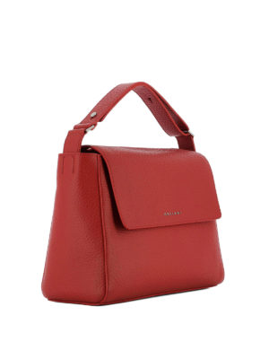 Orciani: totes bags online - Sveva Soft red leather bag
