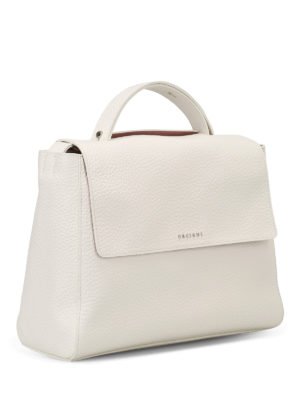 Orciani: totes bags online - Sveva Soft white leather bag