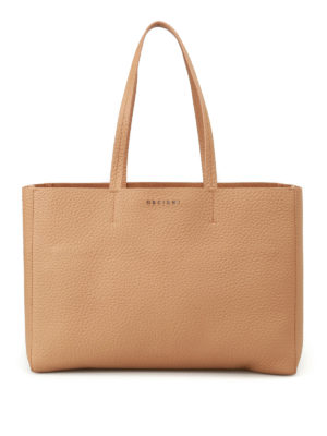 Orciani: totes bags - Soft hammered leather E/W tote bag