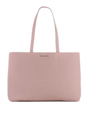 Orciani: totes bags - Soft pesco leather E/W tote bag