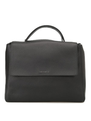 Orciani: totes bags - Sveva Soft black bag