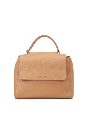 Orciani: totes bags - Sveva Soft cappuccino leather bag