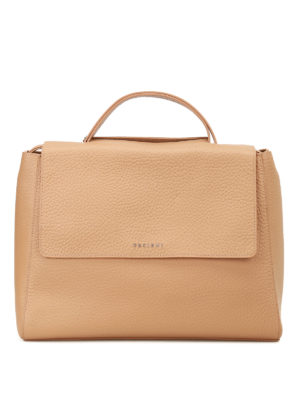 Orciani: totes bags - Sveva Soft light brown leather bag