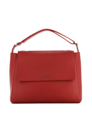 Orciani: totes bags - Sveva Soft red leather bag