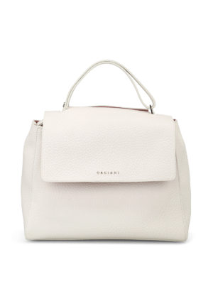 Orciani: totes bags - Sveva Soft white and pink bag