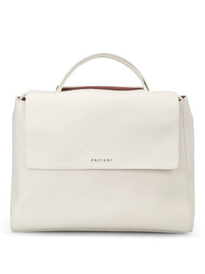 Orciani: totes bags - Sveva Soft white leather bag