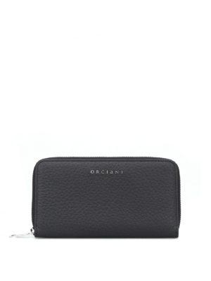 ORCIANI: portafogli - Portafoglio in pelle nera Soft