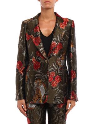 P.A.R.O.S.H.: blazers online - Piger floral lurex jacquard blazer