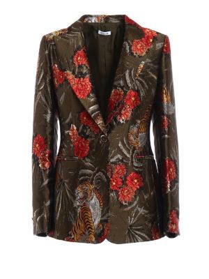 P.A.R.O.S.H.: blazers - Piger floral lurex jacquard blazer
