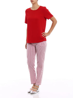 P.A.R.O.S.H.: blouses online - Pantery red cady blouse