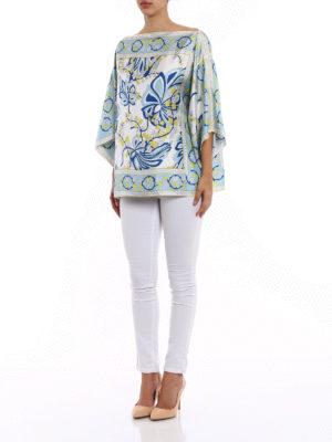 P.A.R.O.S.H.: blouses online - Sifoular silk kaftan blouse
