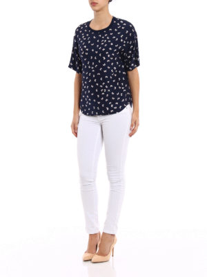 P.A.R.O.S.H.: blouses online - Simpaty printed silk blouse