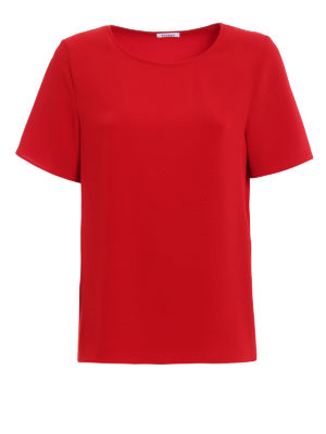 P.A.R.O.S.H.: blouses - Pantery red cady blouse