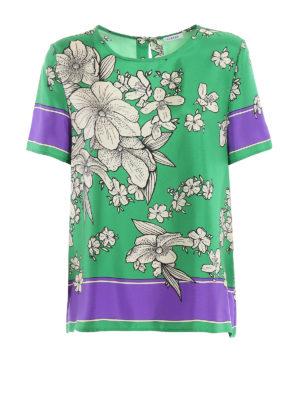 938b5bb81b27 P.A.R.O.S.H.  bluse - Blusa Salato verde in seta floreale