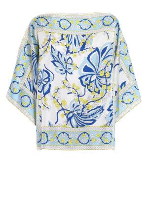 P.A.R.O.S.H.: blouses - Sifoular silk kaftan blouse
