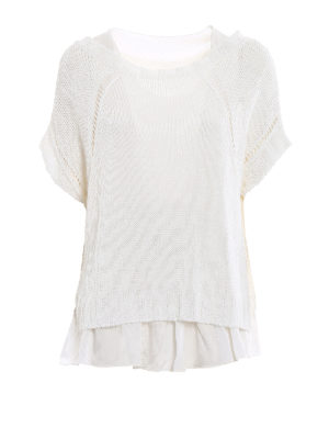P.A.R.O.S.H.: boat necks - Betty linen blend white sweater