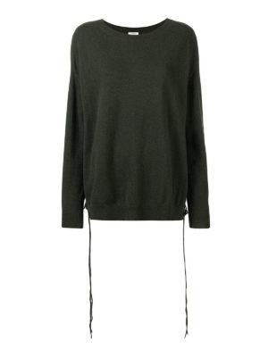 P.A.R.O.S.H.: maglia collo a barchetta - Pull oversize in cashmere dettagli corsetto
