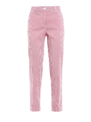 P.A.R.O.S.H.: casual trousers - Chopin striped light twill trousers