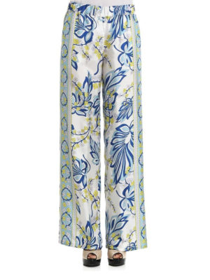 P.A.R.O.S.H.: casual trousers online - Siflor printed silk palazzo pants