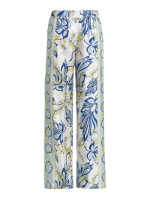 P.A.R.O.S.H.: casual trousers - Siflor printed silk palazzo pants