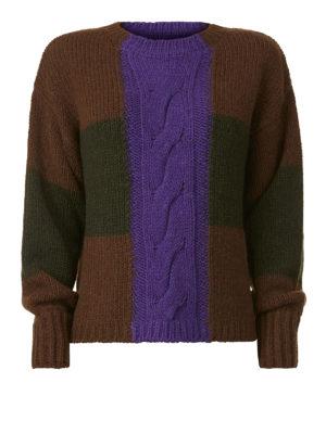 P.A.R.O.S.H.: maglia collo rotondo - Pullover Lonia in alpaca a blocchi di colore