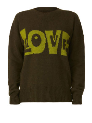P.A.R.O.S.H.: maglia collo rotondo - Girocollo verde Lovingly in lana e cashmere