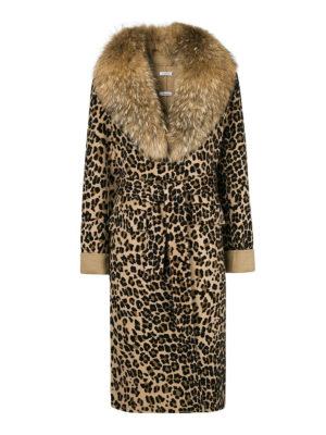 P.A.R.O.S.H.: Pellicce e montoni - Cappotto animalier Lopar con pelliccia